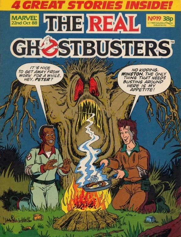 Marvel UK's The Real Ghostbusters Issue 19. Cover by Brian Williamson