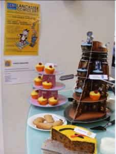 What's not to like about comic cake? Photo courtesy Friends of Lancaster Library