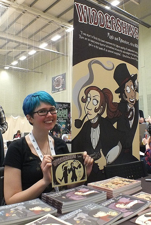 Kate Ashwin shows off her Victorian fantasy graphic novel series Widdershins at Wonderlands 2015. Photo: Jeremy Briggs