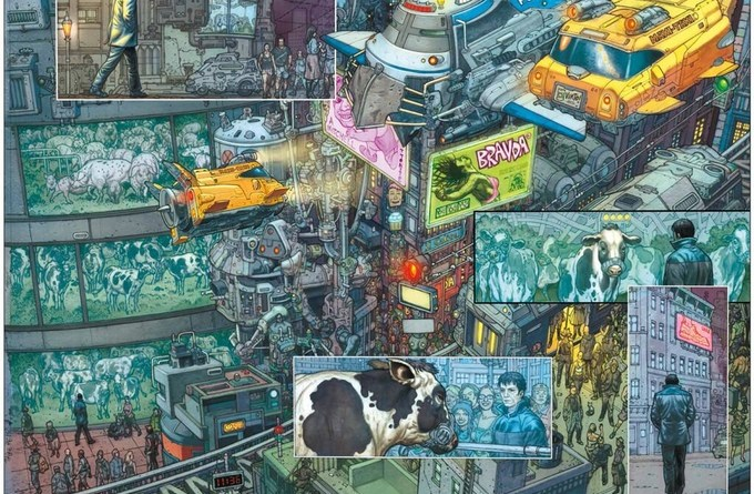 Art from Glenn Fabry's Mute written by Director of Moon and other great movies, Duncan Jones.