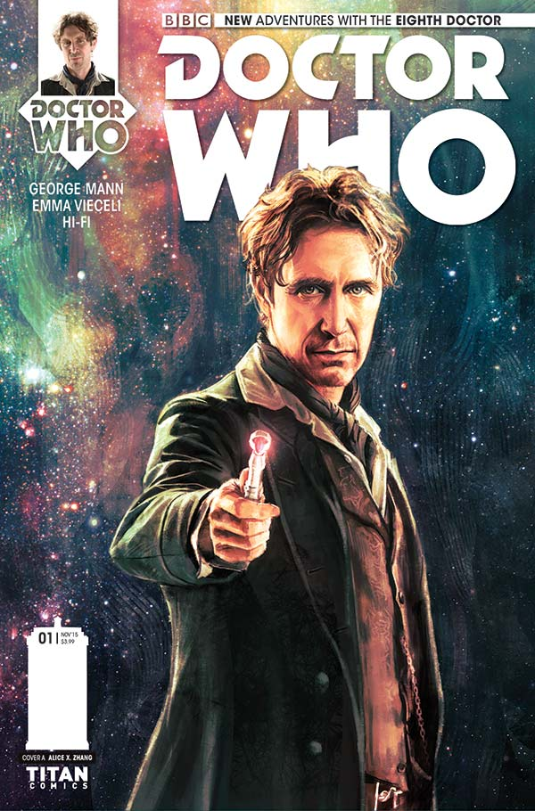 Alice X. Zhang's cover for the first issue of Titan's upcoming Eighth Doctor mini series.