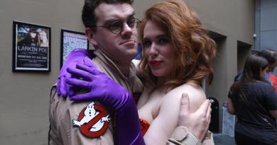 Egon looking for his spores and fungus collection at Glasgow Comic Con 2015