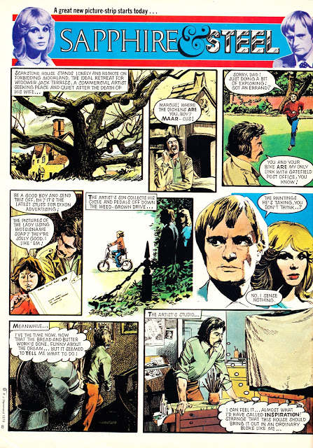 Page 1 of The very first Sapphire & Steel adventure published in Look-In