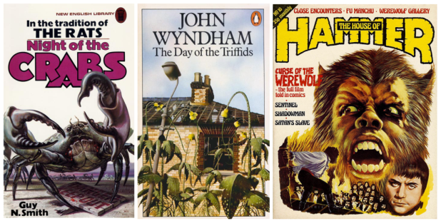 Night of the Crabs, Day of the Triffids and House of Hammer - Covers