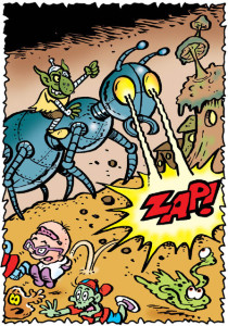 """A panel from """"Team Toxic"""" by Lew Stringer"""