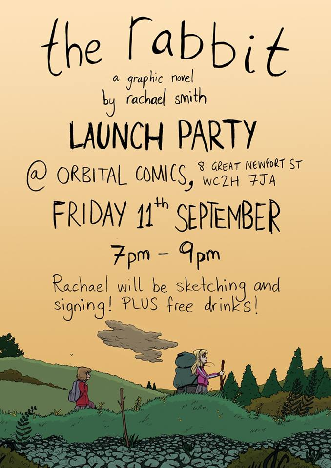 """The Rabbit"" Launch Party Poster. Art by Rachael Smith"