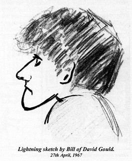 A lightning sketch of David Gould by Bill Nutthall