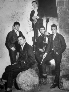 An early publicity shot of the Animals taken at Newcastle Castle Keep probably in early 1964. Left to right: Eric Burdon (Vocals) Alan Price (Keyboards) Chas Chandler (Bass) Hilton Valentine (Guitar) John Steel (Drums). Photo: Richard William Laws