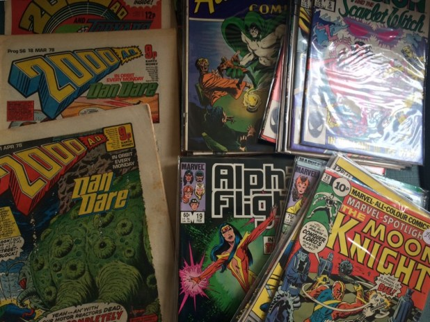 A fine haul of comics from Melksham Comic Convention. Photo: Tony Esmond