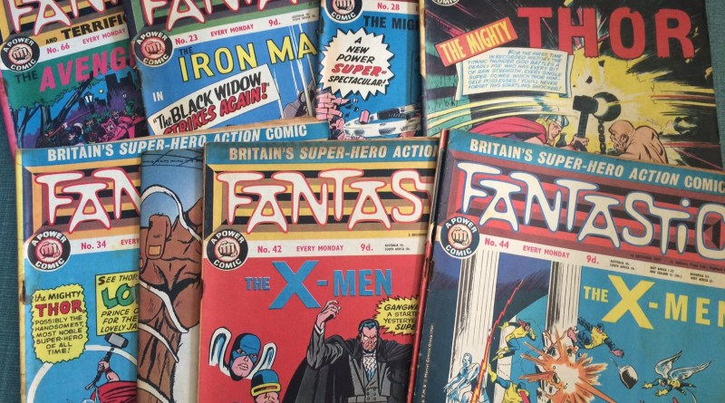 1960s comic Fantastic, one of the first British comics to regularly reprint US superhero strips.