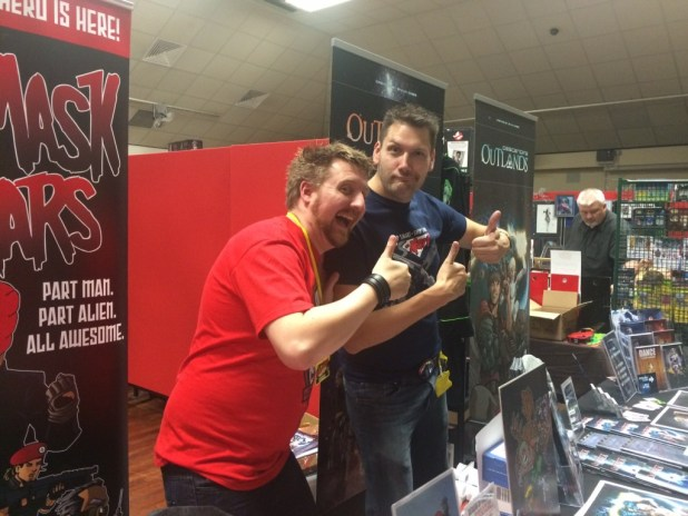 Shaun Dobes and Vince Hunt at Melksham Comic Convention in 2015. Photo: Tony Esmond