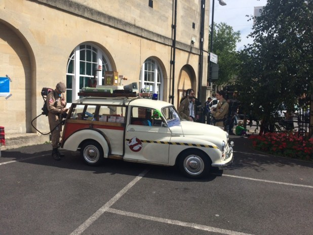 The British arm of Ghostbusters arrive at Melksham. Photo: Tony Esmond