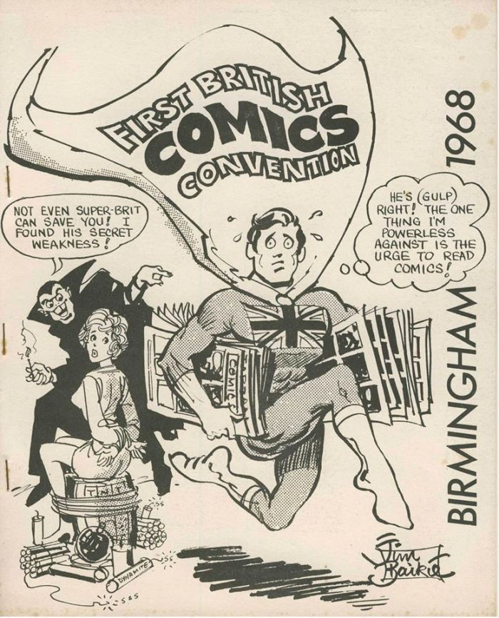 Jim Baikie' cover for the first British comic convention booklet in 1968