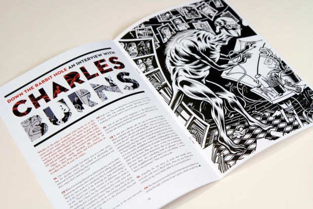 There's a great interview with Charles Burns in OFF LIFE Issue 12