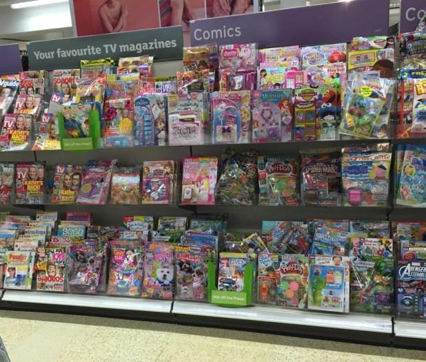 Sainsbury's Lancaster Comic Section, August 2015