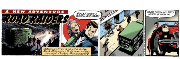 The first re-matestered episode of Buck Ryan, re-coloured by Martin Baines. Buck Ryan © Mirror Newspapers