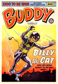 Buddy, a comic aimed at younger readers. This issue featuring Billy the Cat is cover date 8 March 1981.