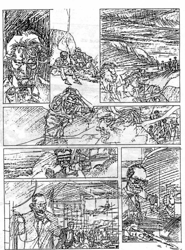 "Pencils for ""Johnny O'Hara"" by John M. Burns"