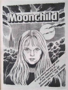 """Moonchild"", a strip for Misty written by Pat Mills, drawn by John Armstrong"