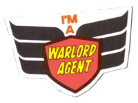 Warlord sticker given away free in Issue 121