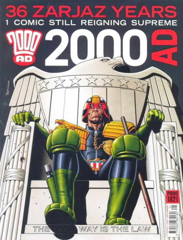 2000AD Prog 1821 - Brian Bolland Dredd Cover