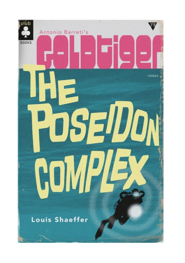 The original cover for the 'lost' Goldtiger strip, The Poseiden Complex