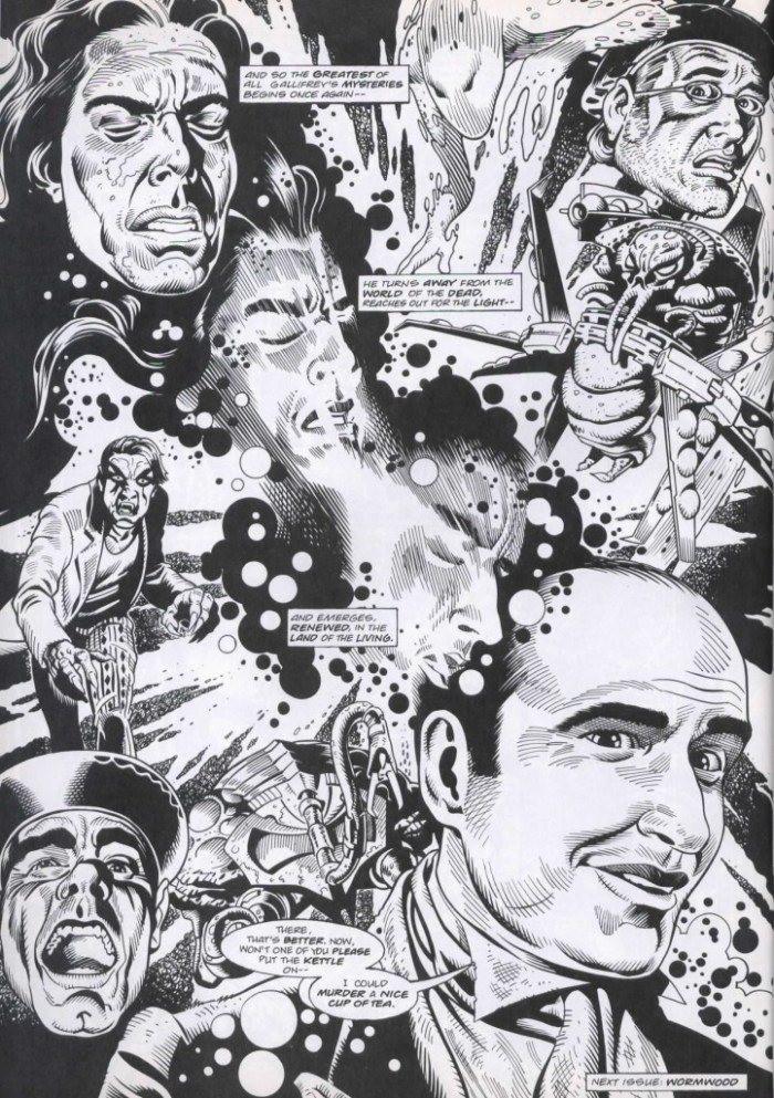 """Art from """"The Final Chapter"""" for Doctor Who Magazine by Martin Geraghty"""