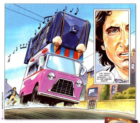 """Art from """"Memory Lane"""" by Martin Geraghty from Doctor Who Magazine 375"""