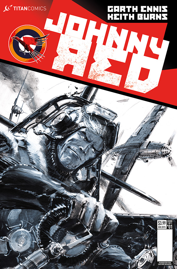 Keith Burns cover for Johnny Red #1