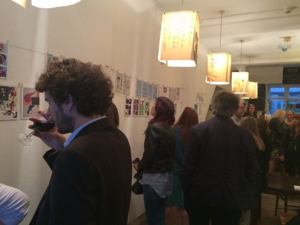The launch of Over the Line at the Poetry Cafe, London, on 3rd September 2015