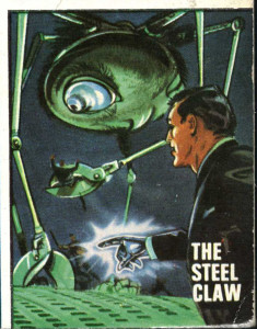 Louis Crandell, the Steel Claw, up against alien invaders... Art © Time Inc UK
