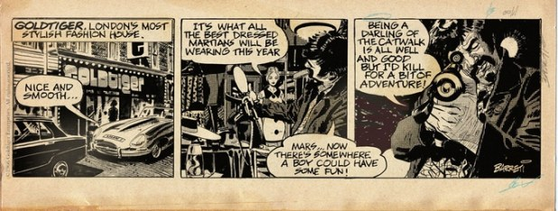 "A sample strip from ""Goldtiger"""