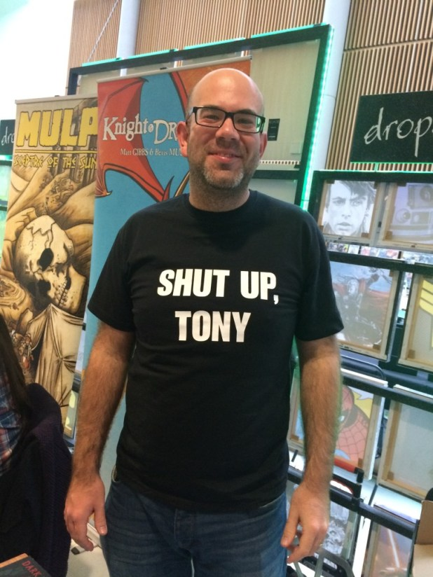 Chris Sides of Redshift Press at Nottingham Comic Con 2015. Photo: Tony Esmond