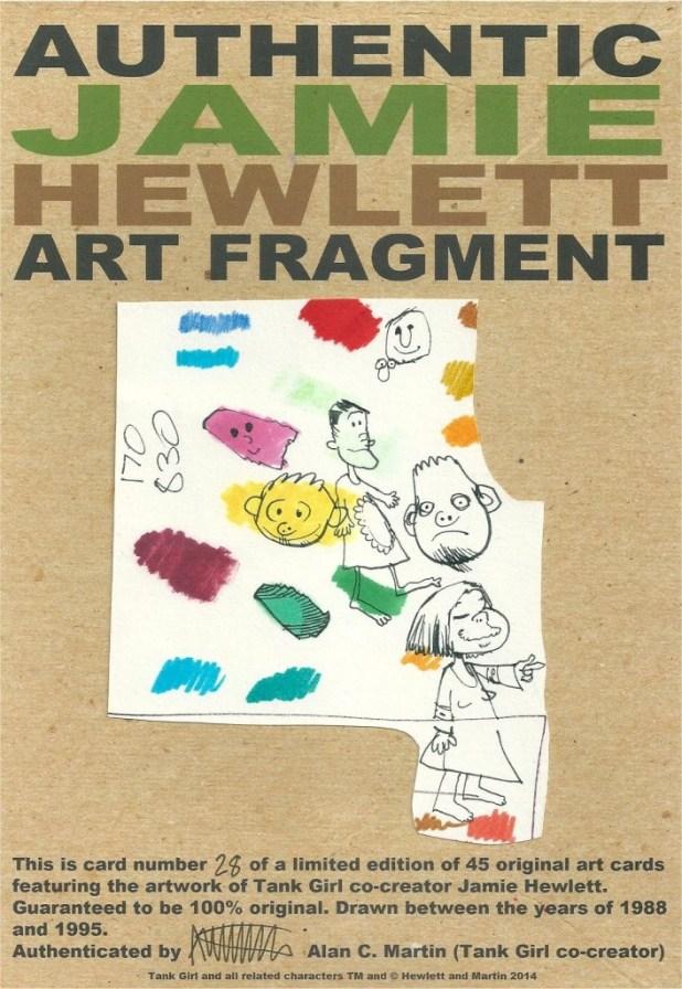 An authentic Jamie Hewlett art fragment