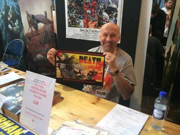 British comics veteran Simon Furman. Photo: Antony Esmond