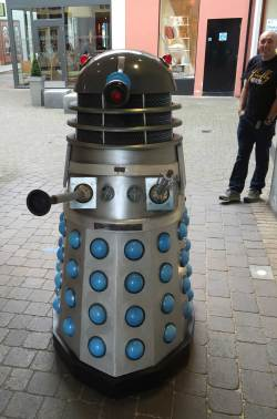 A possibly happy Dalek at the Lakes International Comic Art Festival. Photo: John Freeman