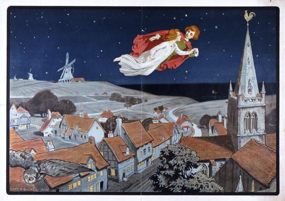 Peter Pan Play Poster 1904 Charles Buchel