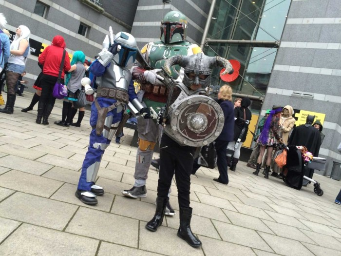 Boba and Jango Fett, along with Warcraft Raider at Thought Bubble 2014. Photo: An Englishman in San Diego, via Thought Bubble Festival