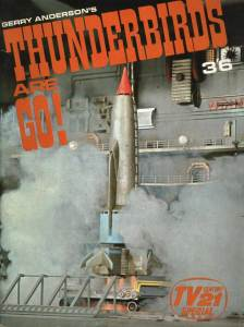 Roger's first project at Century 21 Publishing - a souvenir brochure for the Thunderbirds Are Go feature film