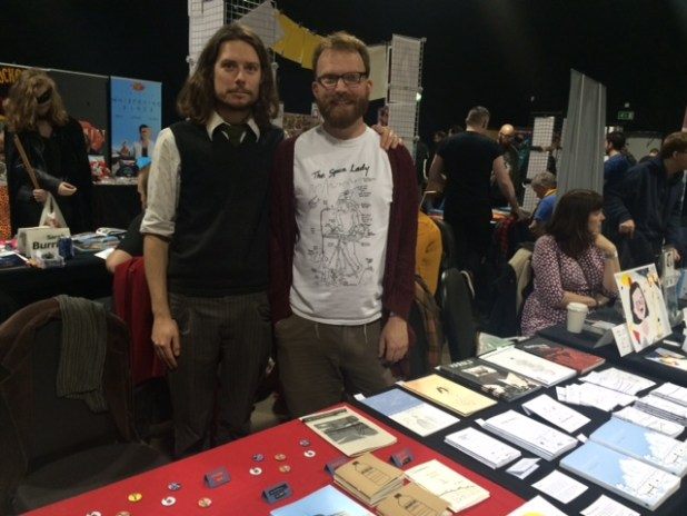 Nick Soucek and Simon Moreton at Thought Bubble 2015. Photo: Tony Esmond
