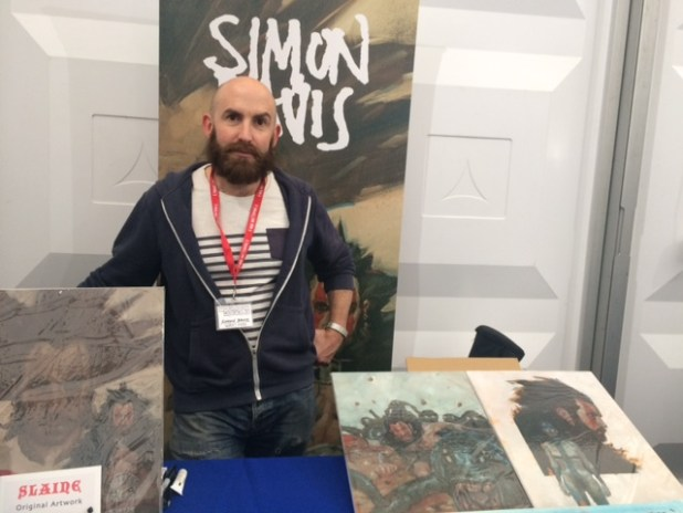 Simon Davis at Thought Bubble 2015. Photo: Tony Esmond