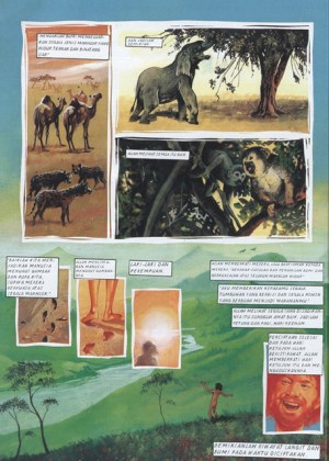 A page from the Lion Graphic Bible re-telling the Garden of Eden story