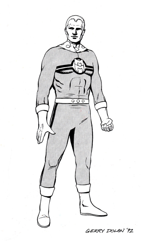 Gerry Dolan's Miracleman illustration for the Third annual Glasgow Comic Art Convention programme.