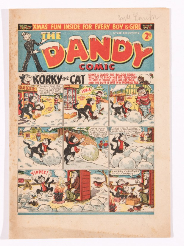A wartime Dandy. Because comics were recycled due to paper shortages, these comics are quite rare.