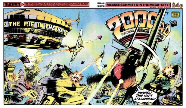 2000AD Prod 446 Ian Kennedy cover