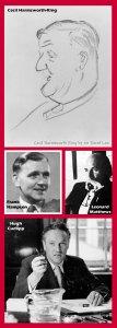 Cecil Harmsworth King, Hugh Cudlipp, Leonard Matthews and Frank Hampson. Montage by Roger Perry