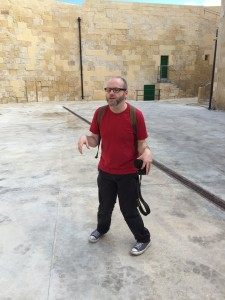 Sean Azzopardi post-convention, at the National War Museum in Valetta. Photo: John Freeman