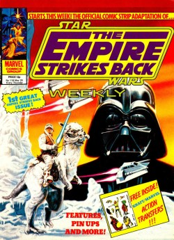 The cover of Star Wars: The Empire Strikes Back Weekly, published in May 1980, continuing the numbering of Star Wars Weekly. The title went monthly with Issue 139.