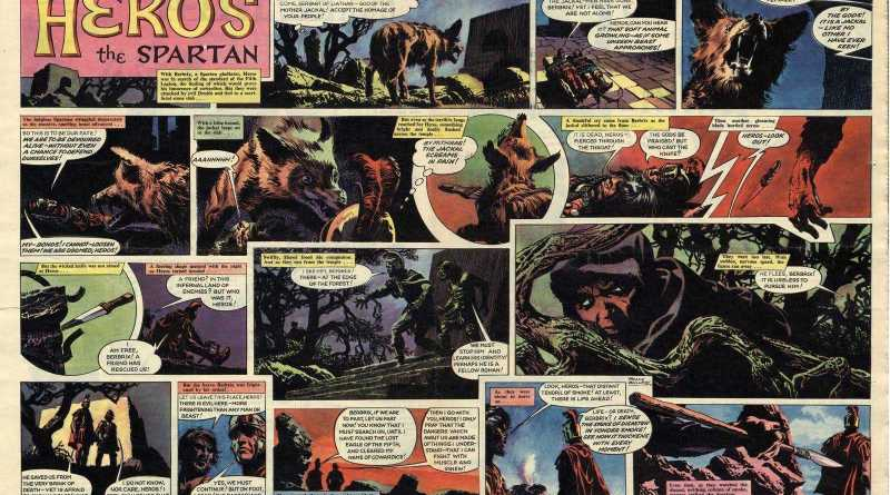 """Episode 12 of the Heros the Spartan story """"Eagle of the Fifth"""", written by Tom Tully, drawn by Frank Bellamy"""