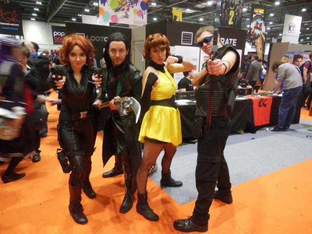 Avengers cosplayers Rachael Barney, Rich Oliver, Alexis Kaisharis and Chris Mallarkey. Photo © K Clancy Photography